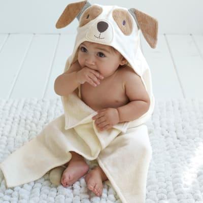 Elegant Baby Hooded Puppy Personalized Bath Towel