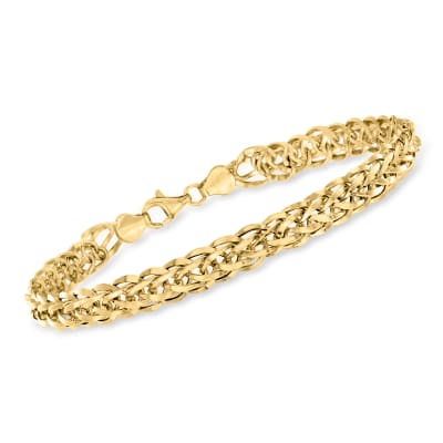 14kt Yellow Gold Wheat-Link Bracelet