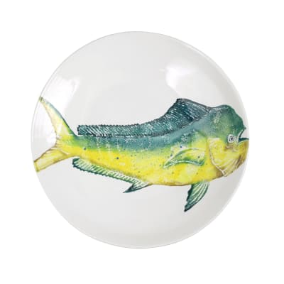 "Vietri ""Pesca"" Mahi-Mahi Shallow Bowl from Italy"