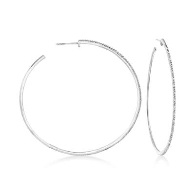 .15 ct. t.w. Diamond Hoop Earrings in Sterling Silver