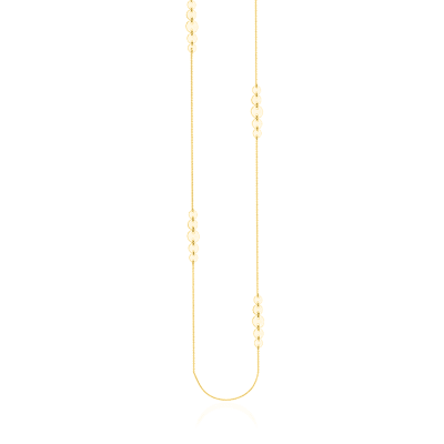 14kt Yellow Gold Graduated Disc Station Necklace