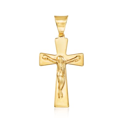 Italian 14kt Yellow Gold Crucifix Pendant