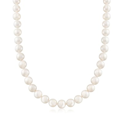 9-10mm Cultured Pearl Necklace with 14kt Yellow Gold