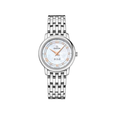 Omega De Ville Prestige Women's 27.4mm Mother-Of-Pearl Watch in Stainless Steel
