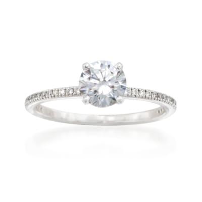 Simon G. .15 ct. t.w. Diamond Engagement Ring Setting in 18kt White Gold
