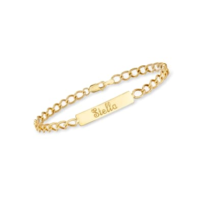 Child's 14kt Yellow Gold Name ID Bracelet