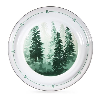 """Golden Rabbit """"Forest Tree"""" Large Tray"""