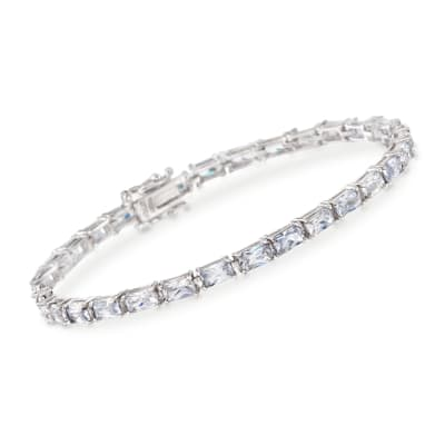 7.50 ct. t.w. Baguette CZ Tennis Bracelet in Sterling Silver