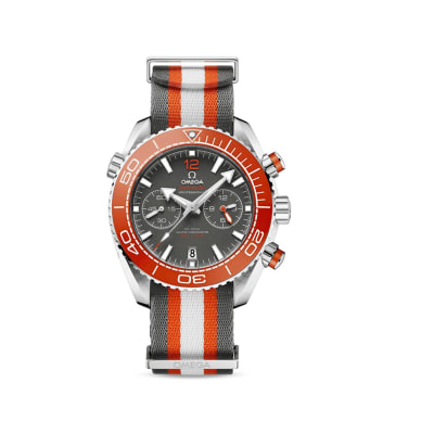 Omega Seamaster Planet Ocean Men's 46mm Automatic Stainless Steel Watch with Nato Strap