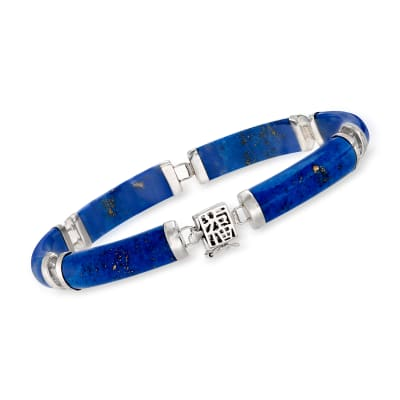 "Lapis ""Bless"" Bracelet in Sterling Silver"