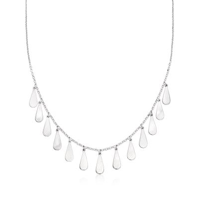 Italian Sterling Silver Teardrop Necklace