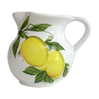 "Abbiamo Tutto ""Lemons"" Ceramic Pitcher from Italy"