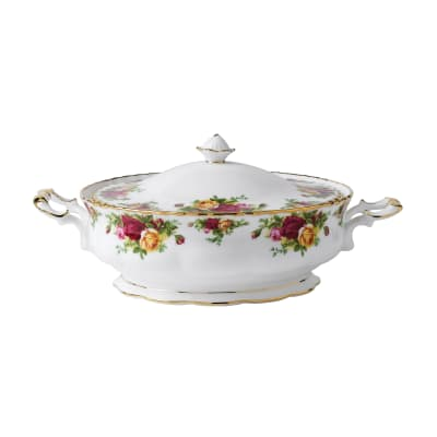 """Royal Albert """"Old Country Roses"""" Covered Vegetable Bowl"""