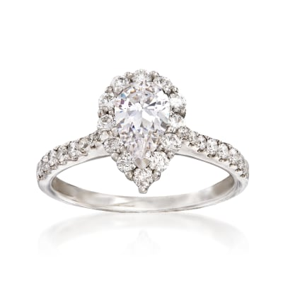 .56 ct. t.w. Diamond Engagement Ring Setting in 14kt White Gold