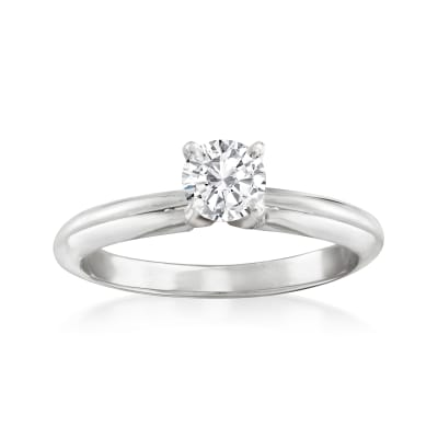 .50 Carat Certified Diamond Engagement Ring in 14kt White Gold