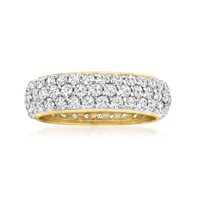 3.00 ct. t.w. Micropave Diamond Eternity Band in 14kt Yellow Gold