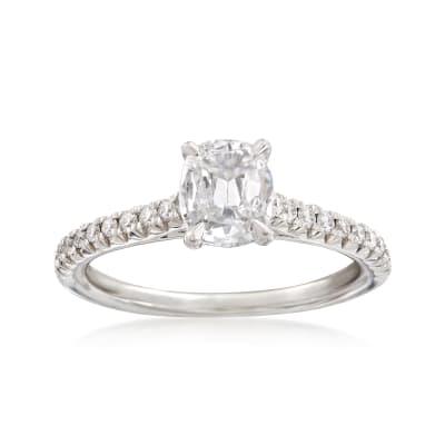 Henri Daussi .98 ct. t.w. Diamond Engagement Ring in 18kt White Gold