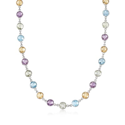 48.00 ct. t.w. Multi-Stone Necklace in Sterling Silver