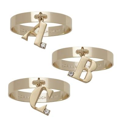 Joanna Buchanan Set of 4 Single Initial Napkin Rings