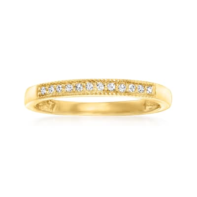 Diamond-Accented Ring in 14kt Yellow Gold