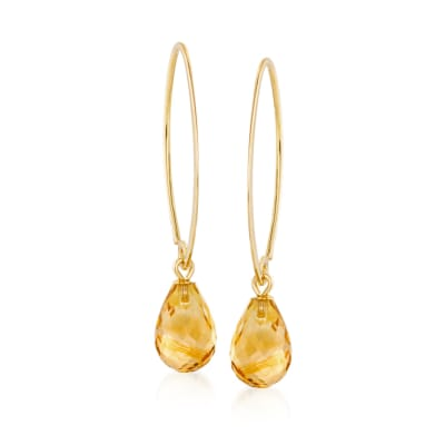 5.75 ct. t.w. Citrine Earrings in 14kt Yellow Gold
