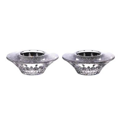 "Waterford Crystal ""Lismore"" Set of 2 Votive Candle Holders"
