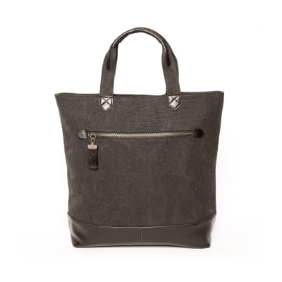 """Brouk & Co. """"Excursion"""" Black Waxed Canvas Tote Bag"""