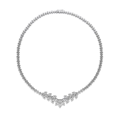 5.41 ct. t.w. Diamond Necklace in 14kt White Gold