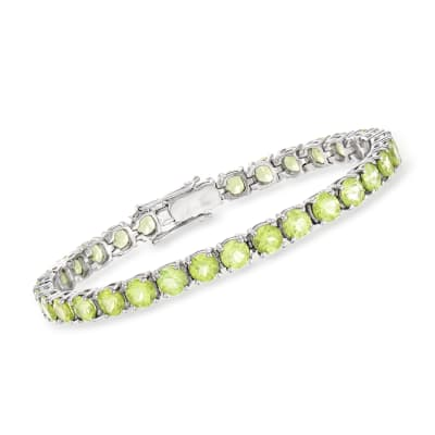16.00 ct. t.w. Peridot Tennis Bracelet in Sterling Silver