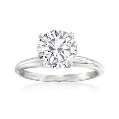 2.00 Carat Diamond Solitaire Ring in Platinum