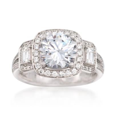 Simon G. .86 ct. t.w. Diamond Engagement Ring Setting in 18kt White Gold