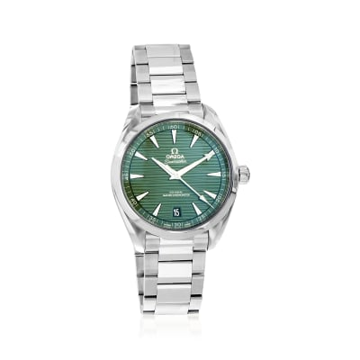 Omega Seamaster Aqua Terra Men's 41mm Automatic Stainless Steel Watch with Green Dial