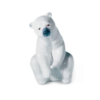 "Lladro ""Polar Bear Resting"" Porcelain Figurine"