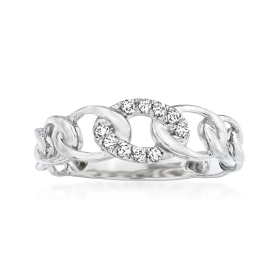 .10 ct. t.w. Diamond Link Ring in 14kt White Gold