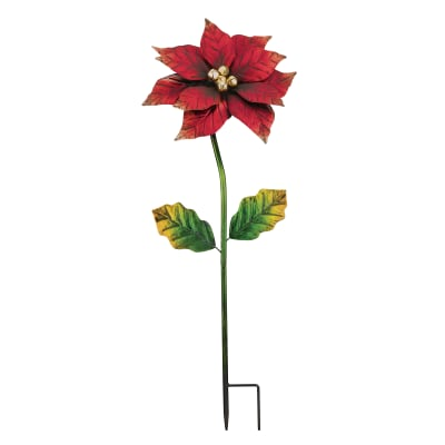 Regal Small Poinsettia Garden Stake