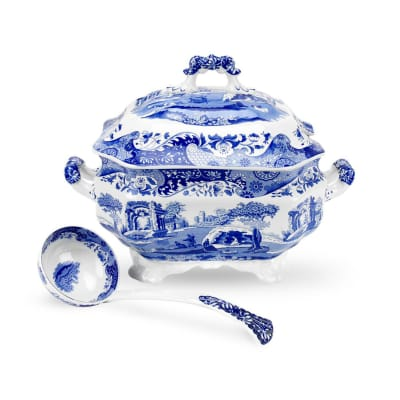 "Spode ""Blue Italian"" Soup Tureen and Ladle"