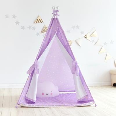 Child's Purple Twinkle Star Teepee Tent