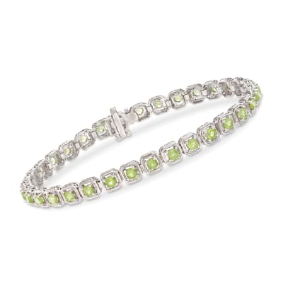 3.90 ct. t.w. Peridot Bracelet in Sterling Silver