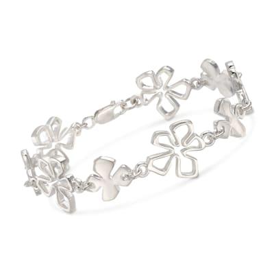"""Zina Sterling Silver """"Tiki"""" Multi-Flower Bracelet"""