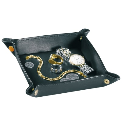 Royce Black Leather Valet Tray