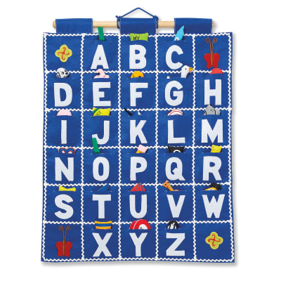 Pockets of Learning Abc Blue Wall Hanging Chart