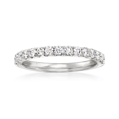 Henri Daussi .45 ct. t.w. Diamond Wedding Ring in 14kt White Gold