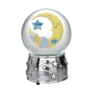 "Reed & Barton ""Sweet Dreams"" Silver Plate Water Globe"