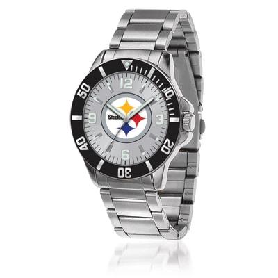 Men's 46mm NFL Pittsburgh Steelers Stainless Steel Key Watch