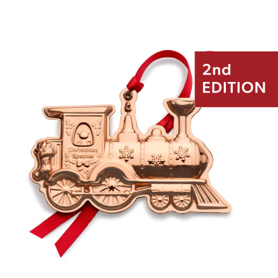 "Wallace 2020 ""Vintage Toys"" Copper Train Ornament - 2nd Edition"