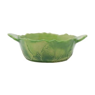 """Vietri """"Foglia"""" Green Handled Small Baker from Italy"""
