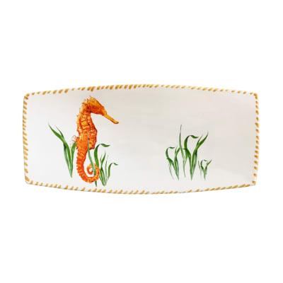 """Abbiamo Tutto """"Seahorse"""" Ceramic Rectangular Tray from Italy"""