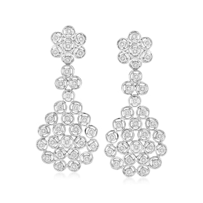 .50 ct. t.w. Diamond Multi-Circle Drop Earrings in Sterling Silver