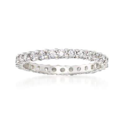 .80 ct. t.w. CZ Eternity Band in Sterling Silver