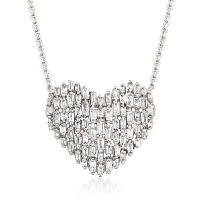 .60 ct. t.w. Diamond Heart Necklace in Sterling Silver